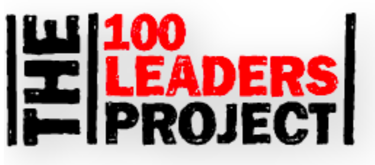 Graphic logo for 100 leaders project