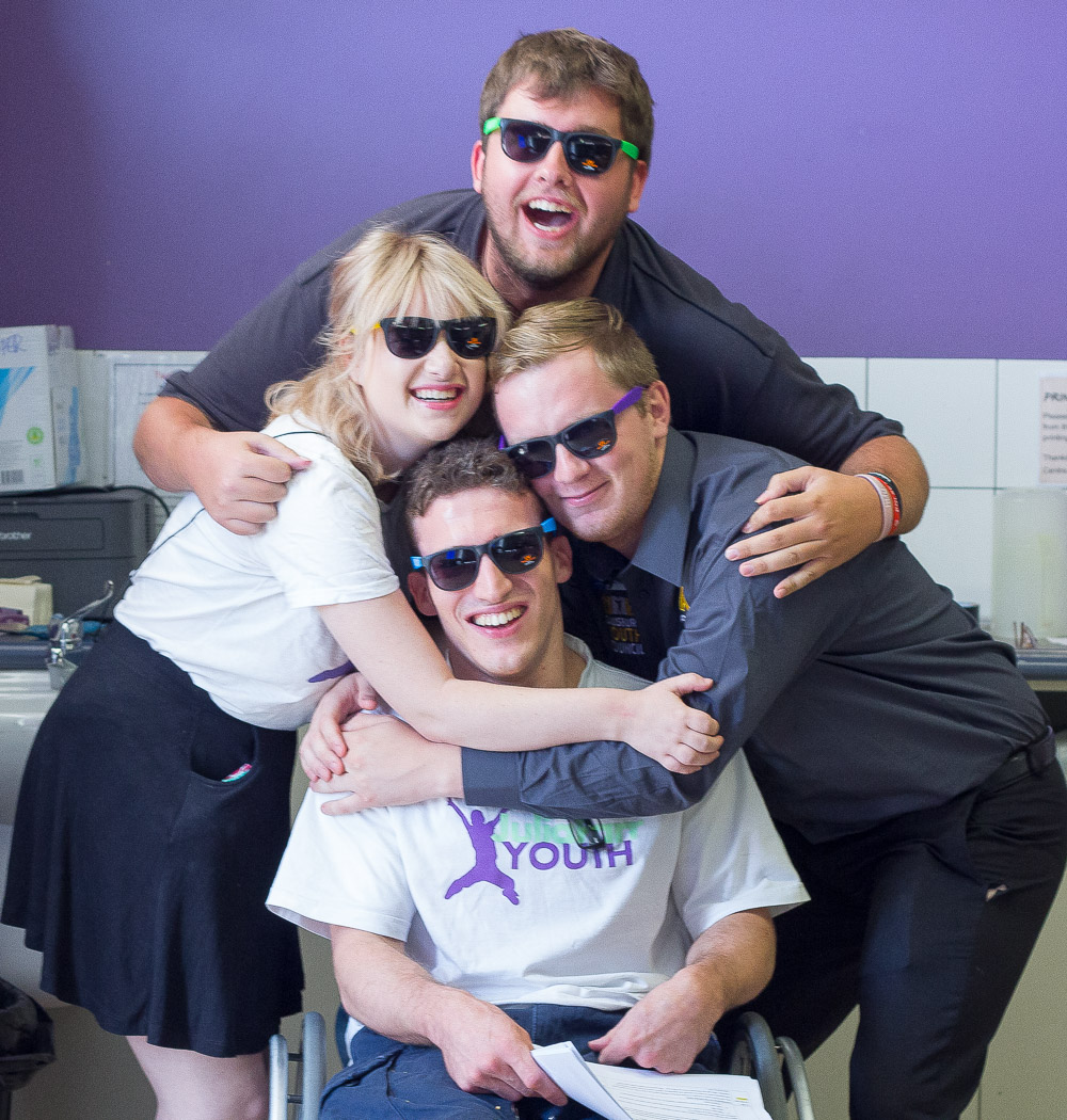 Fourth JFY Members posing with sun glasses