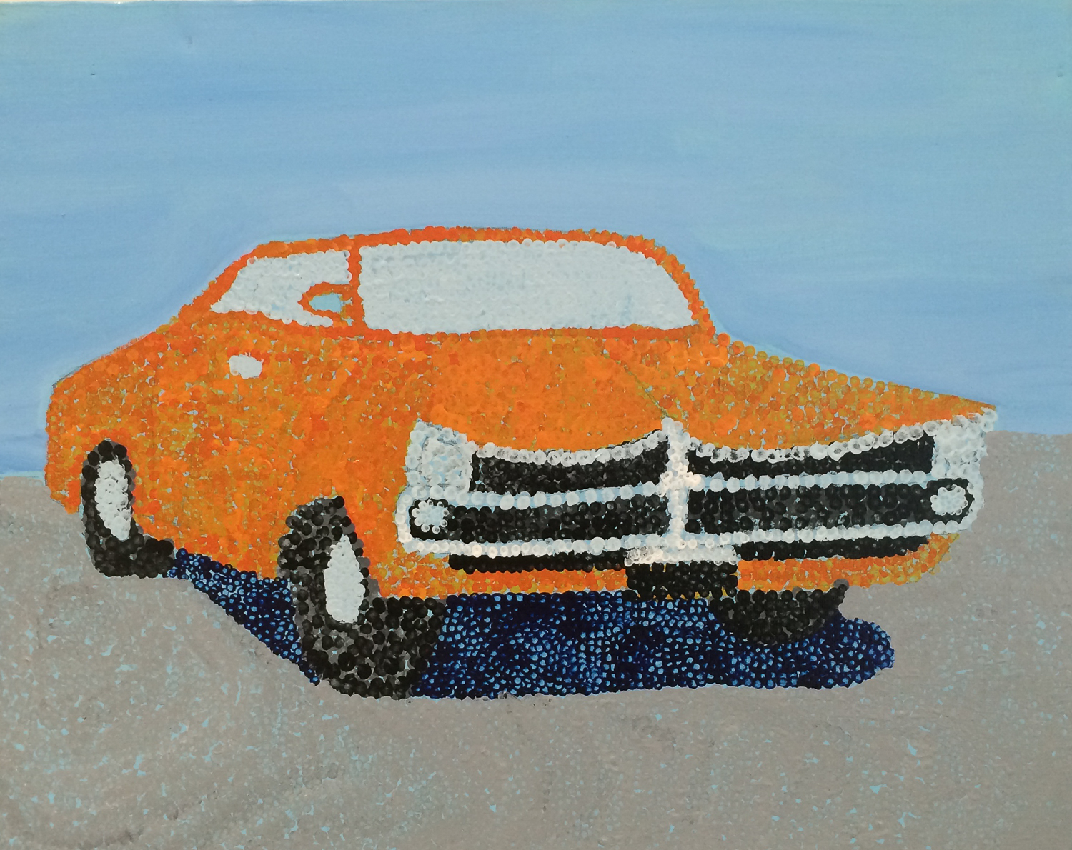 Painting of a classic car